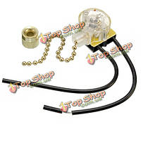 Универсальный потолочный вентилятор настенный светильник замена Вытяжная цепи латуни переключатель