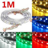 Водонепроницаемый IP67 1m 60smd 5050 красный / синий / зеленый / теплый белый / белый / RGB LED полосы света 220v