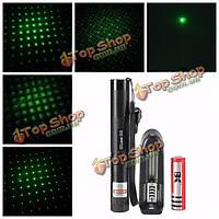303 Регулируемый фокус 1mw зеленый лазерный указатель костюм + удлинительная трубка