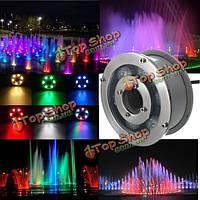 6w IP68 RGB LED фонтан бассейн пруд озеро пятно света подводный светильник AC/DC12V