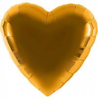 Шар из фольги в виде золотого сердца