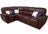 Кожаный угловой диван Сидней (303см-197см)