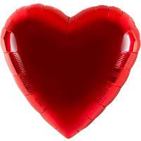 Воздушный шар с красным сердцем