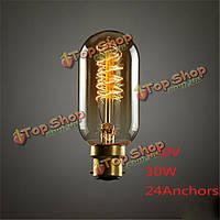 B22 30Вт T45 24anchors 150lm Эдисона лампы накаливания старинных дизайнер белка стимпанк вольфрамовая лампа 220В