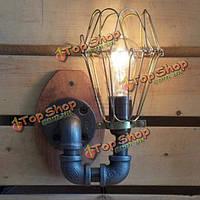 Американская старинные настенные лампы ретро страна для спальни бар кафе