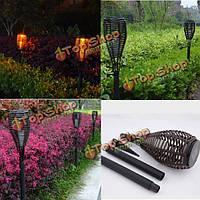 Открытый водонепроницаемый LED солнечный свет факела ротанг пейзаж лампа дворе газон сад