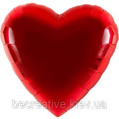 Большой воздушный шар в форме сердца XXL