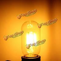 E27 4W T45 початка LED старинные антикварные ретро Эдисон прозрачное стекло теплый белый свет лампы 220В переменного тока