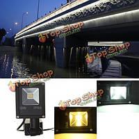 10Вт LED PIR датчик движения свет напольный светильник безопасности