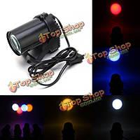 Черный корпус мини-3W LED красочный pinspot эффект освещения DJ-бар танцевальная вечеринка дискотека шоу