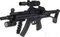 Автомат MP5 спецподразделений на пульках, лазер, фонарь, фото 1