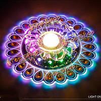 Красочные Павлин 3w LED кристалл потолочный светильник для гостиной прихожей декора