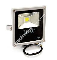 Прожектор LED 10W SLIM білий холодний
