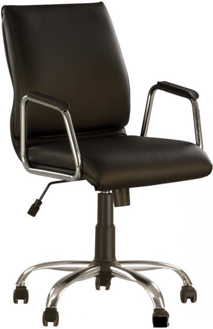 Кресло офисное Vista GTP сhrome механизм Tilt крестовина CHR68, экокожа Eco-30 (Новый Стиль ТМ)