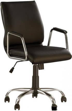 Кресло офисное Vista GTP сhrome механизм Tilt крестовина CHR68, экокожа Eco-30 (Новый Стиль ТМ), фото 2