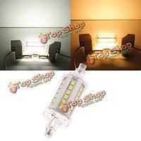Лампочка LED R7s 5w 36 SMD 2 835 чисто белый/белый кукуруза теплый Светодиодная заменить галогенная лампа 220В-240В