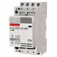 Модульний контактор e.mc.220.4.25.4NO,4р,25А, 220В