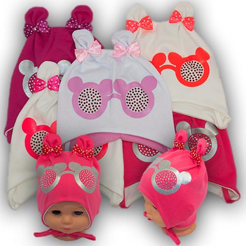 Трикотажная шапка на завязках для малышей, BSK 75
