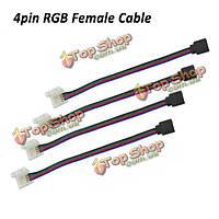 10мм 4pin rgb никакой спаивающий женский кабельный соединитель pcb управление 3528 5050 света полосы