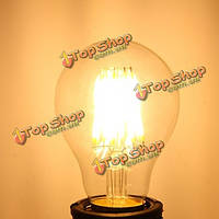 Глыба e27 a60 LED 8w edison ретро нить светло-белая/теплая белая вольфрамовая лампочка лампы земного шара ac 220v