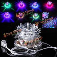 Автоматический вращая 48 LED RGB кристально лотоса проектор освещения этап эффект для диско-клуб