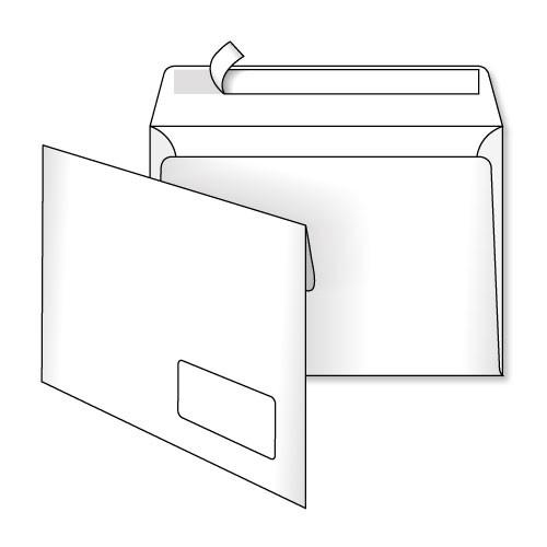 Конверт С5 (0+0) окно самоклеющийся с силиконовой лентой