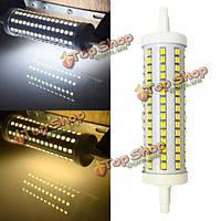 Лампочка LED R7s 12w 135мм SMD 2835 128 чисто белый/теплый белый Светодиодная кукурузы 85V 265V-