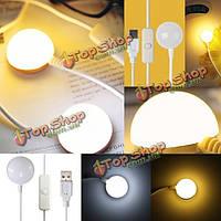 6 LED магнитная лента металлическая основа USB Reading ночник с выключателем