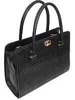 Лаковая сумка женская к/з черная 15-49 Украина