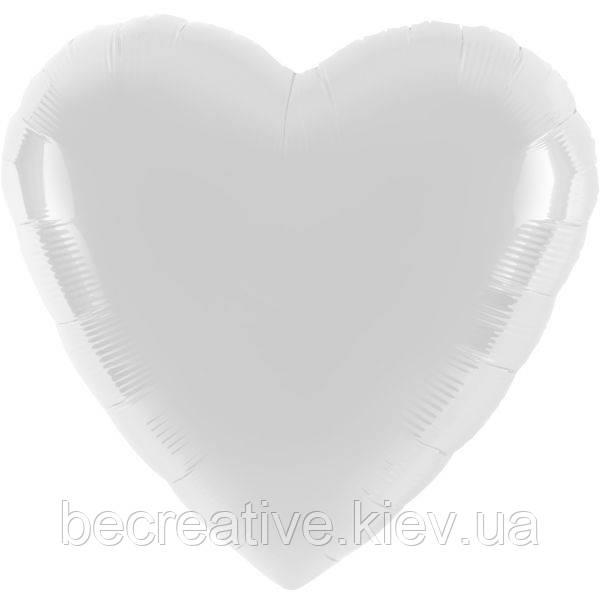 Воздушный шар в форме сердца,белый
