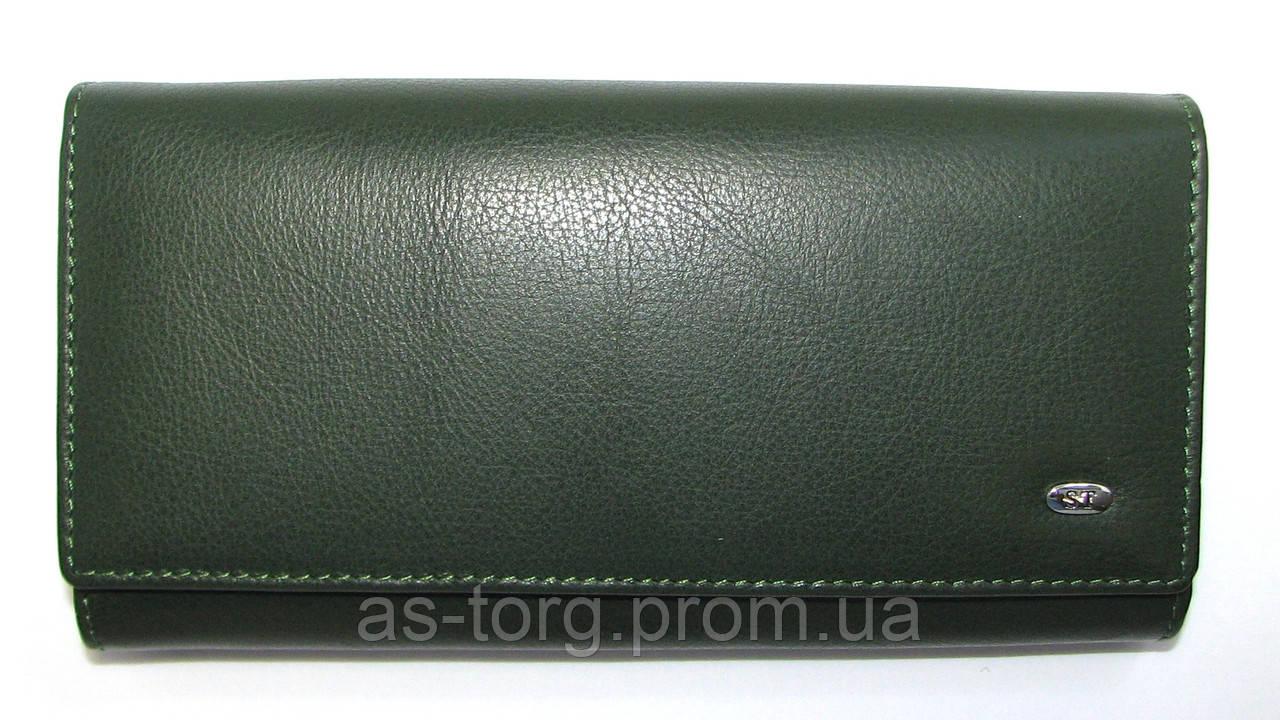 Вместительный кошелек женский темно-зеленый  продажа, цена в Днепре ... 4379cfed20c