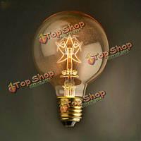 E27 40Вт G80 старинные звезды стиль лампы накаливания Эдисона глобус лампочки для декоративного освещения