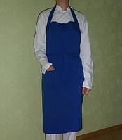 Фартук нагрудный цвет синий, поварской костюм, униформа для повара