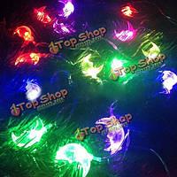 5м 30 LED красочной лунной медной гирлянды для рождества Хэллоуина домашнее художественное оформление 220В