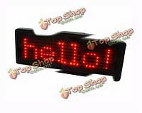 Завивание перезаряжающегося красного LED бейджа для бизнеса рекламный показ сообщения
