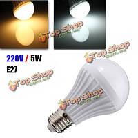 Е27 LED 5w 14 СМД 5630 теплый белый / белый шар шар лампы пластик LED лампочка загорается лампочка 220-240
