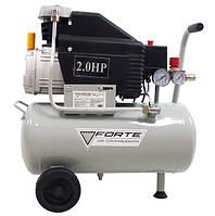 КОМПРЕССОР - FL-2T24 (FORTE)Компресор FL-2T24 - 8 атм. 1,5 кВт, вхід: 200 л.хв., рес-р 24 л. FORTE