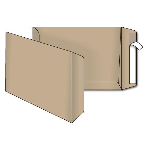 Конверт В5 (0+0) крафт самоклеющийся с силиконовой лентой