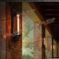 Старинные железные настенные лампы сельской местности для столовой гостиной 110v 220v