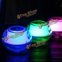 LED Свет увлажнителя портативный кристаллический производитель тумана аромата мелкого торговца воздухоочистителя USB для домашнего офиса