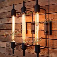 Ржавчина цвет американского стиля страна деревенский старинный железная стена светильники