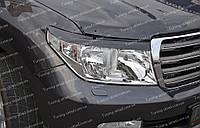 Реснички Тойота Ленд Крузер 200 (накладки на фары Toyota Land Cruiser 200)