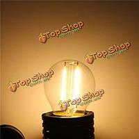 E27 g45 2w теплая белая/белая edison нить LED глыба лампа с регулируемой яркостью освещения ac220В/110В