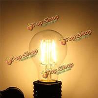 E27 a60 4w теплая белая/белая edison нить LED глыба лампа лампочки земного шара с регулируемой яркостью освещения ac220В/110В