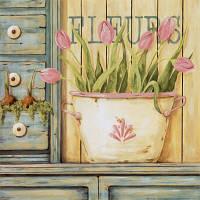 "KHO 2028 ""Розовые тюльпаны"" Роспись по номерам на холсте (без коробки) 40х40см"