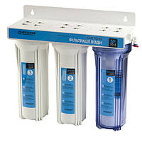 """Система фильтрации воды трехступенчатая с краном SF10-3 """"Насосы+Оборудование"""""""
