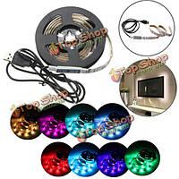 50см/100см/150см/200см LED 5050 водонепроницаемый IP65 RGB USB LED полосы света DC 5V