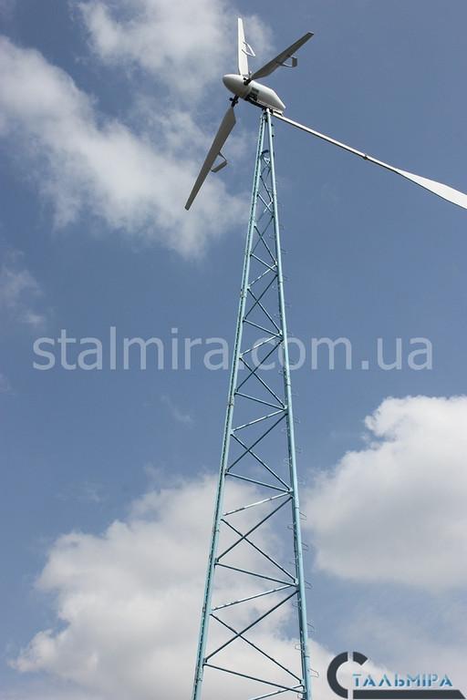 Монтаж вышки ветрогенератора (с.Лесники)