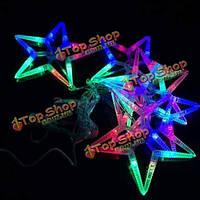 2.5m красочные LED звезда строки огни на Рождество Свадебные украшения 220В