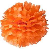 Помпон бумажный (оранжевый) 290716-002